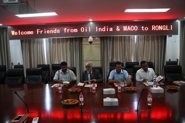 印度客户来公司考察