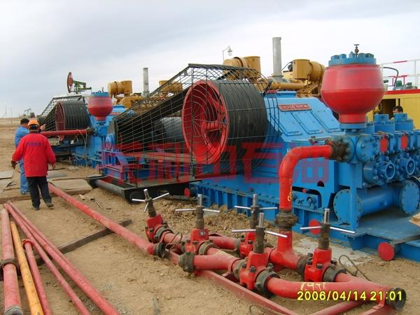 RL1300D泵在哈国井场安装就绪