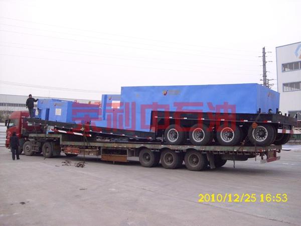 出口俄罗斯的F-500车载泵组准备发运