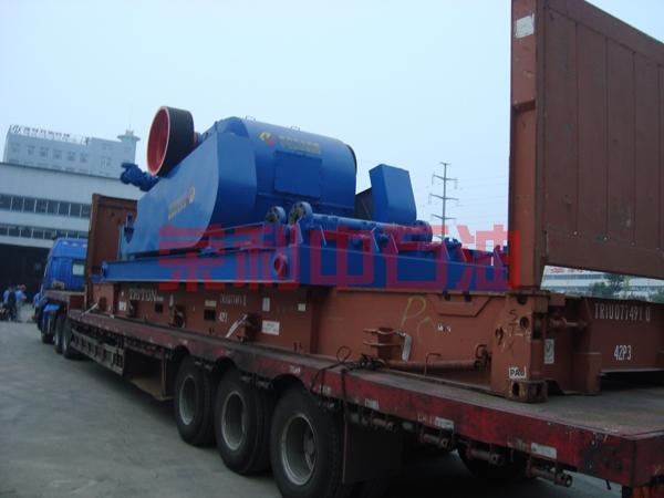 出口印度国家石油公司的F-1600电机泵组准备发货