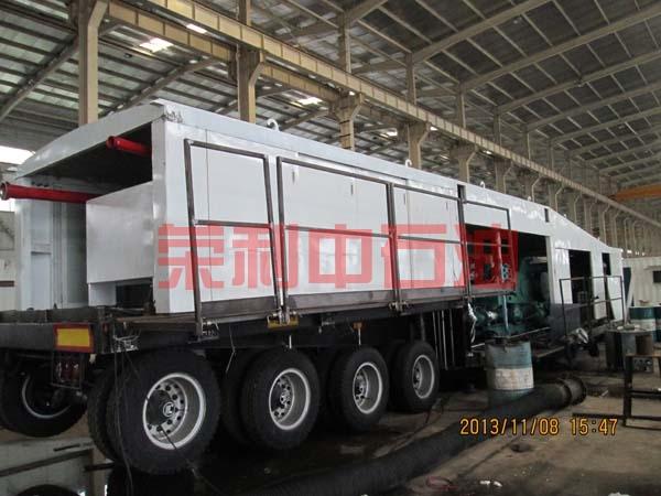 俄罗斯客户组装F-800车载机泵组