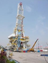 和渤海钻井公司合作的海洋钻机