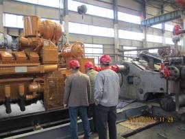 阿尔及利亚客户验收F-1000机泵组